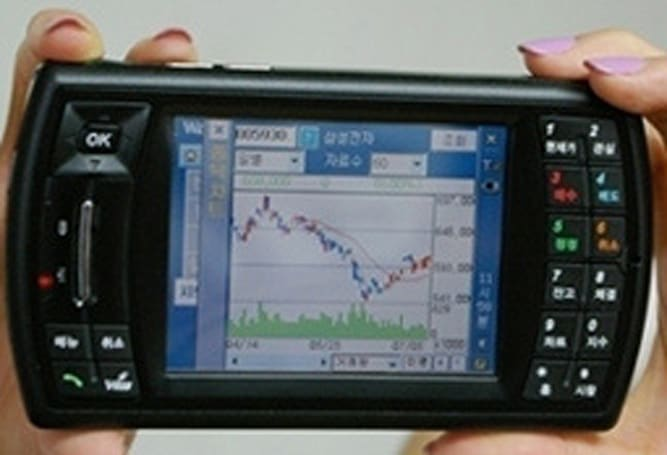 Mobile Compia PDA designed with day trading in mind