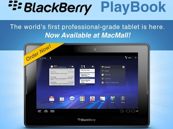 Want a PlayBook that runs Android 3.0? You can get one at MacMall!