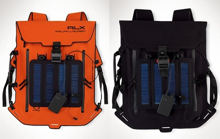 Ralph Lauren's solar-panel backpack charges your phone in hours, your credit card in seconds