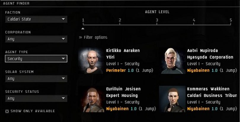 EVE Online's new agent finder detailed [Updated]