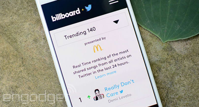#NowPlaying: Twitter and Billboard flip the switch on real-time music charts