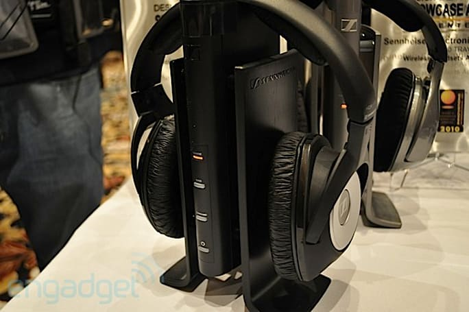 Sennheiser RS170 wireless headphones ears-on