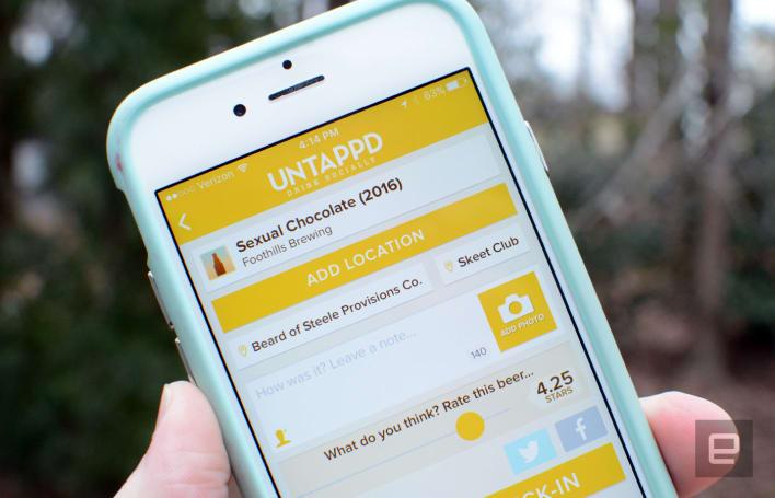 Beer-tracking app Untappd gets barcode scanning, hails an Uber