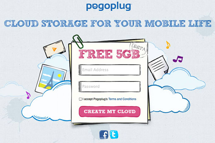 Pogoplug Cloud offers 5GB of free mobile storage, a home for your Beatles collection