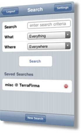 Searchlight goes native on the iPhone