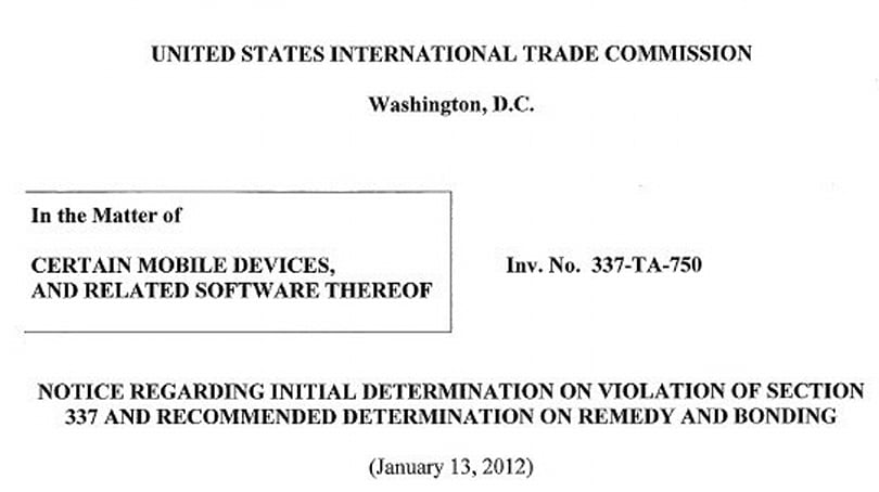 ITC preliminary ruling says Motorola's Droid series doesn't violate Apple patents