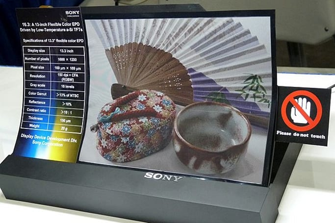 Sony unveils flexible color e-paper, new glasses-free 3D LCD displays at SID 2011