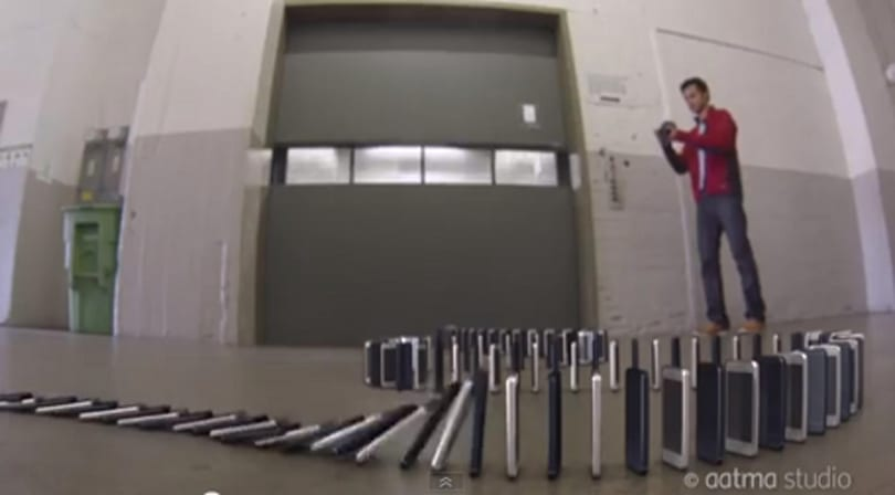 """YouTube find: 10,000 iPhone """"dominoes"""""""
