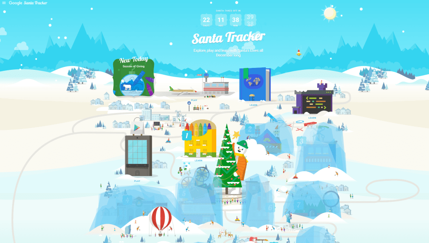 Santas Village Google Santa Tracker >> Santa's village comes to life as Google's holiday tracker ...