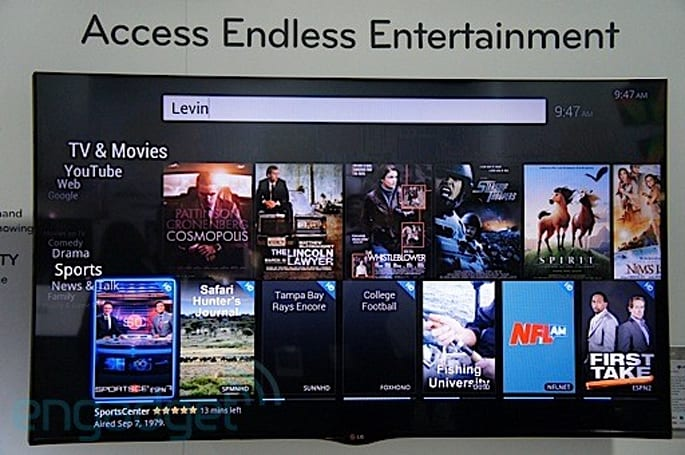 LG's 55-inch 3D Google TV eyes-on