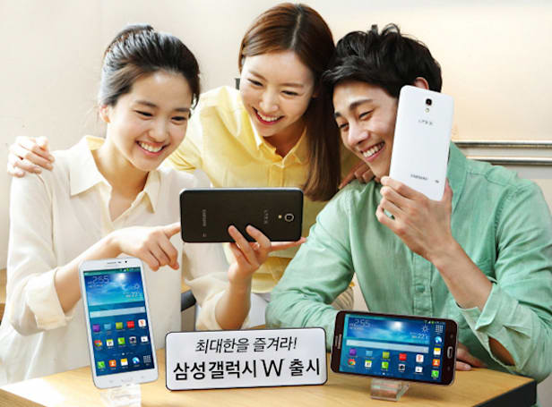 Samsung's 7-inch Galaxy W blurs the line between phones and tablets