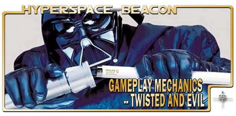 Hyperspace Beacon: Gameplay mechanics -- twisted and evil