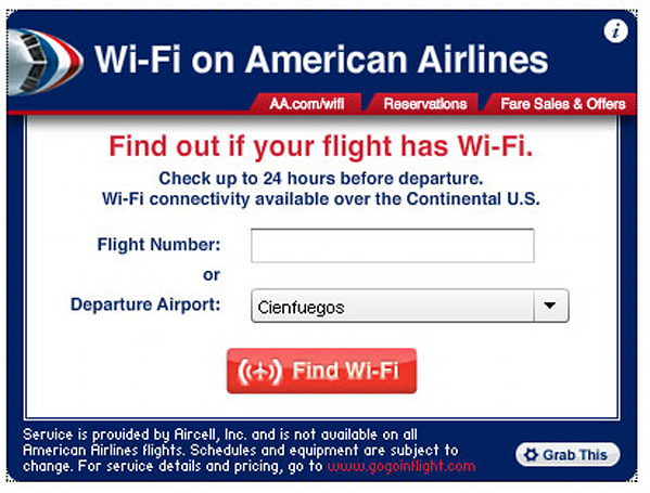 American Airlines launches online widget to sniff out WiFi-equipped flights