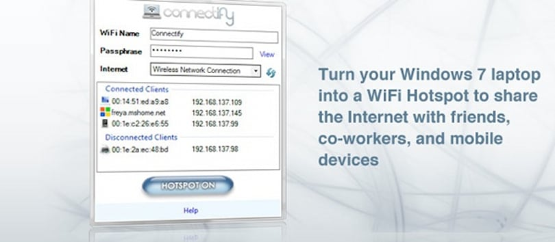 Unfinished Windows 7 feature exploited for virtual WiFi hotspots
