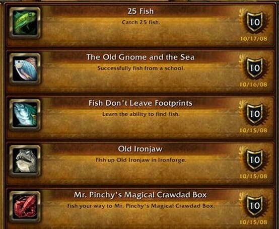 Insider Trader: Crafting achievements pre-Wrath