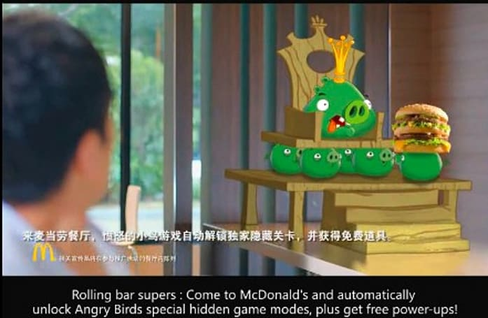 Angry Birds invade McDonalds in China