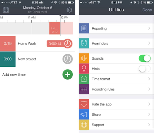 Hours is a clean, useful time tracker for iPhone