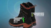 Columbia Bugathermo hiking boots are heated, rechargeable