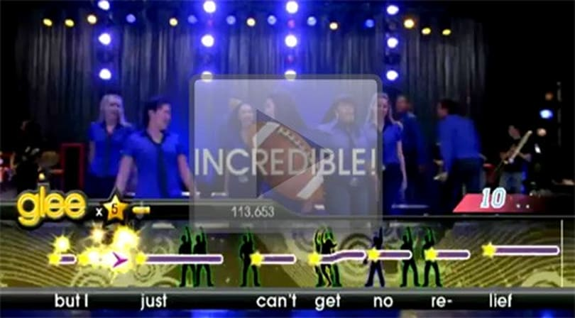We just can't get no relief from the Karaoke Revolution Glee launch trailer