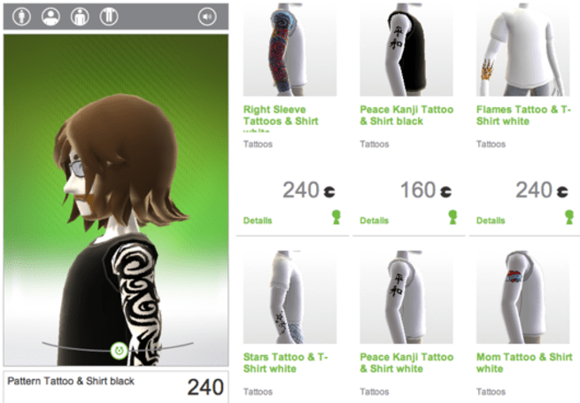 Xbox Live Avatar tattoos now available