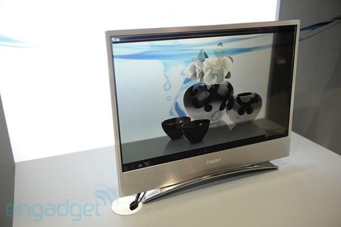 Haier's transparent organic TV eyes-on (video)