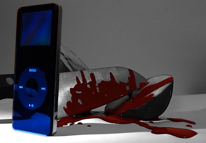 Well that's just about the most horrifying iPod I've ever seen