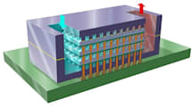 IBM cools stacked silicon chips with water