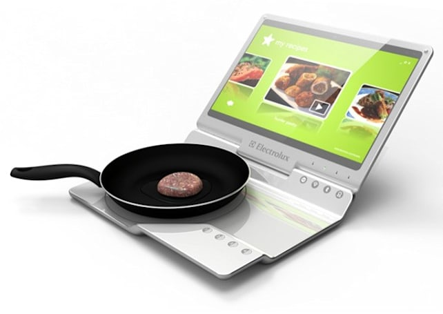 Electrolux kitchen laptop concept disregards grease, common sense