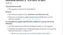 Sprint Epic 4G Touch will receive Android Jelly Bean update today (update)