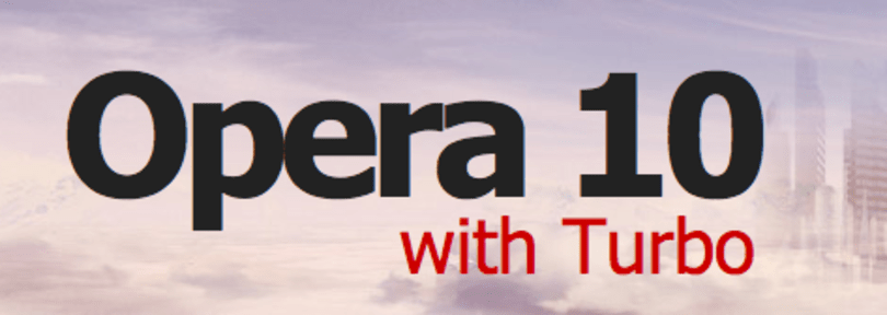 Opera 10 released, for your speedy web browsing pleasure
