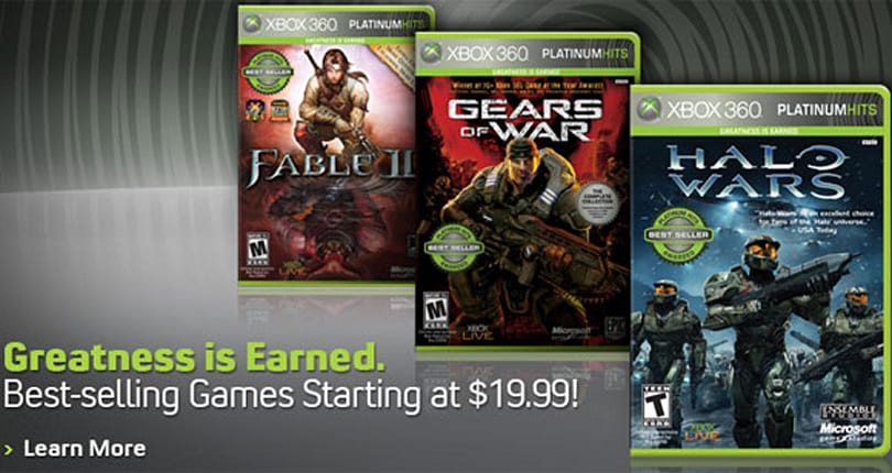 Xbox 360 Platinum Hits lineup adds Halo Wars, Orange Box and others