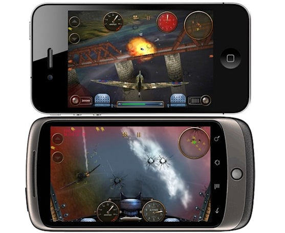 Android versus iPhone live multiplayer gaming made possible in SGN's Skies of Glory