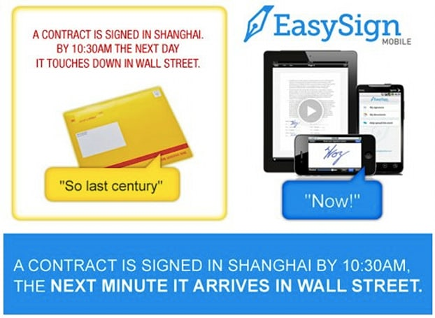 EasySignMobile enters the Facebook fray for iPhone and iPad