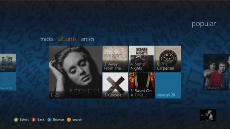 Rhapsody app now available on Xbox 360