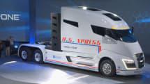 米ニコラ・モーター、水素燃料電池トラックNikola One実車を初公開。1000馬力、大画面タッチパネルや全方向センサー搭載