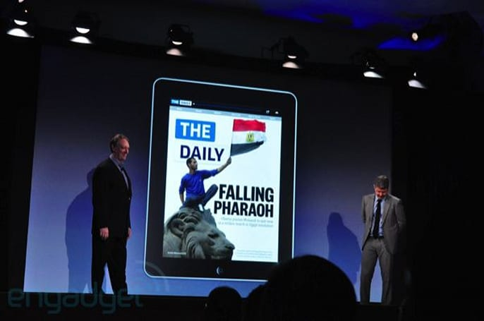 The Daily iPad 'newspaper' launches, $.99 weekly or $39.99 per year