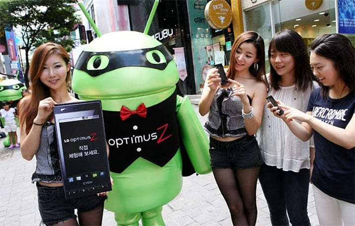 LG enlists 'Z Boy' to promote Optimus Z, resembles an open source Zorro