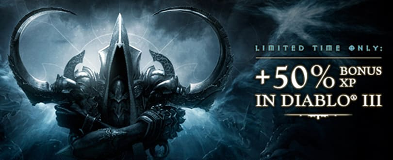 Get ready for Diablo III's expansion with a 50 percent XP boost