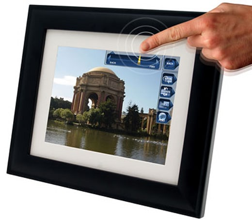 Pandigital's PanTouch WiFi / Bluetooth photo frames -- 'cause buttons are scary