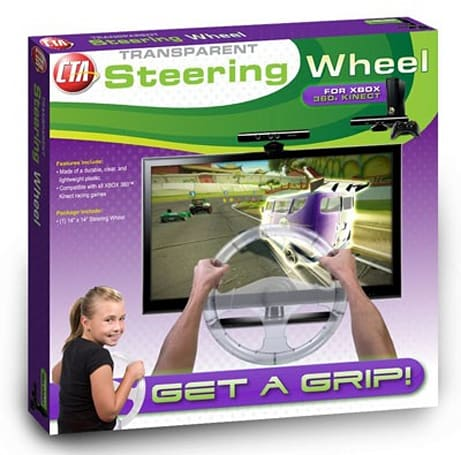 CTA's translucent Kinect steering wheel, for when you absolutely, positively must see the road