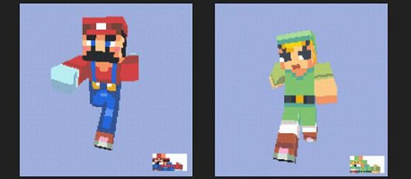 Pixel artist releases free pack of gaming-related Minecraft character skins