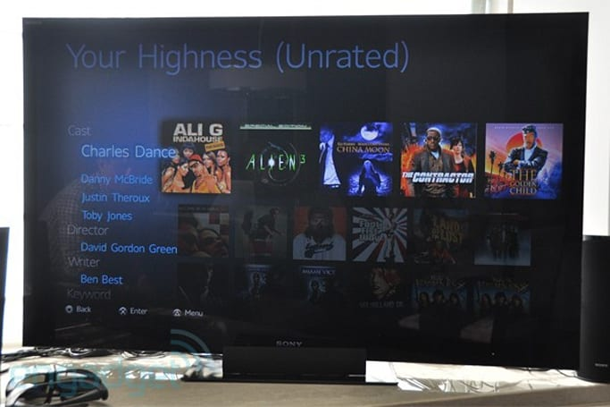 Sony Video Unlimited-preview brings Gracenote metadata to SEN