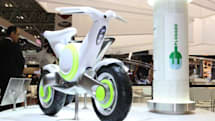 Yamaha's EC-f electric motorcycle has two wheels and one plug