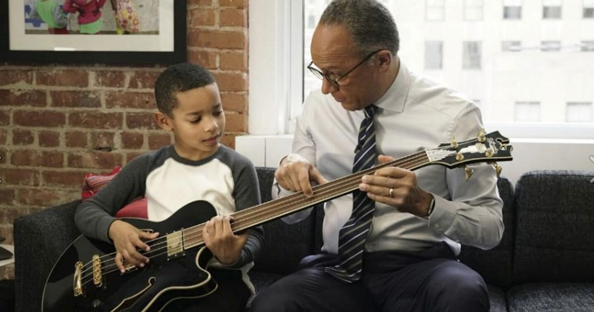 Adorable Seven-Year-Old Boy Finally Meets His Idol Lester Holt