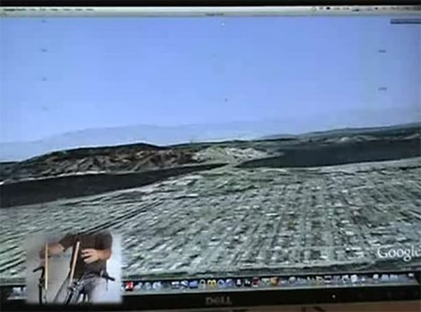 DIYer uses mountain bike to pedal around Google Earth