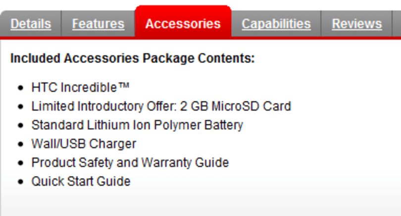 Droid Incredible comes with 'limited introductory offer' of 2GB microSD