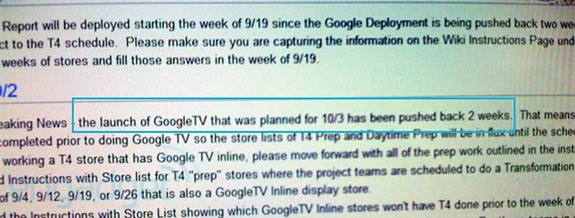 Google TV officially launching October 17th?