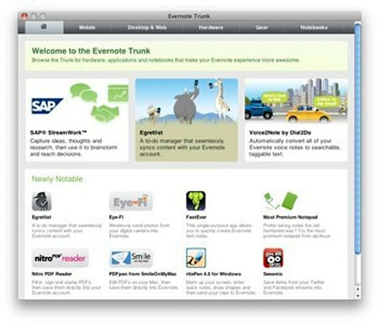 Announcing Trunk, an app store for Evernote