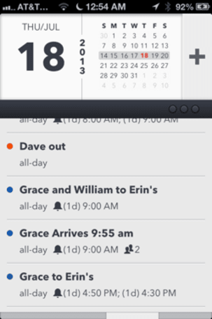Agenda 4 for iPhone improves on a great calendar app