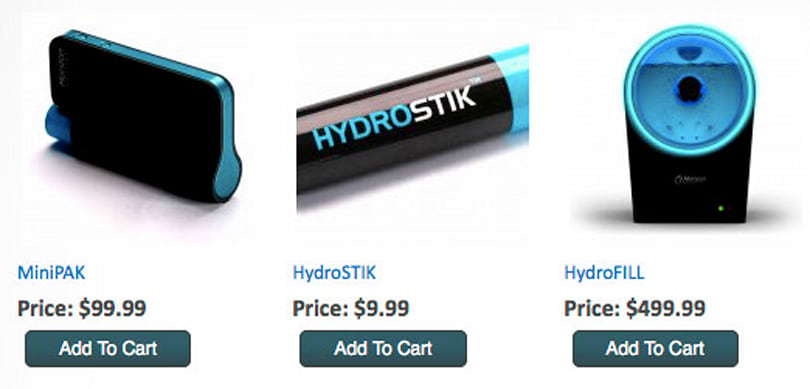 Horizon's Minipak, Hydrofill and Hydrostik fuel cell devices go up for pre-order